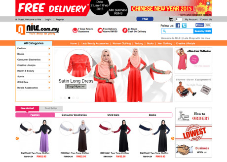 Nile store sdn bhd malaysia website awards 2015 for Trusted websites for online shopping