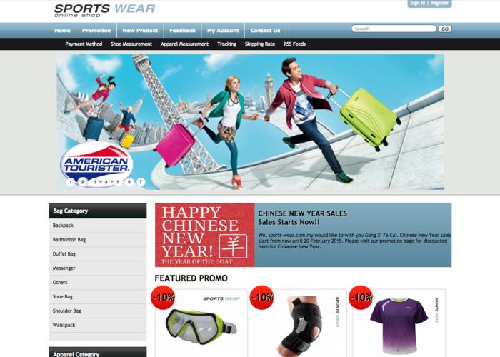Malaysia Sports Wear Online Shop