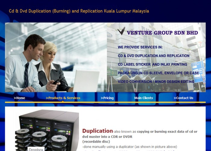 Venture Group CD & DVD Duplication Service