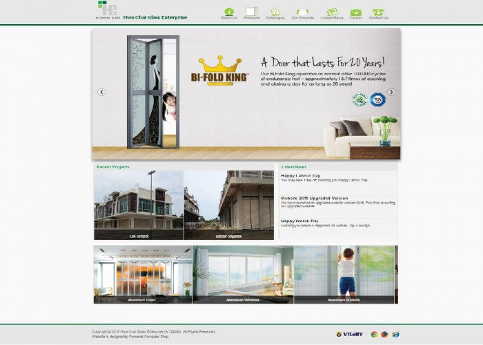 Aluminium & Glass Company Website
