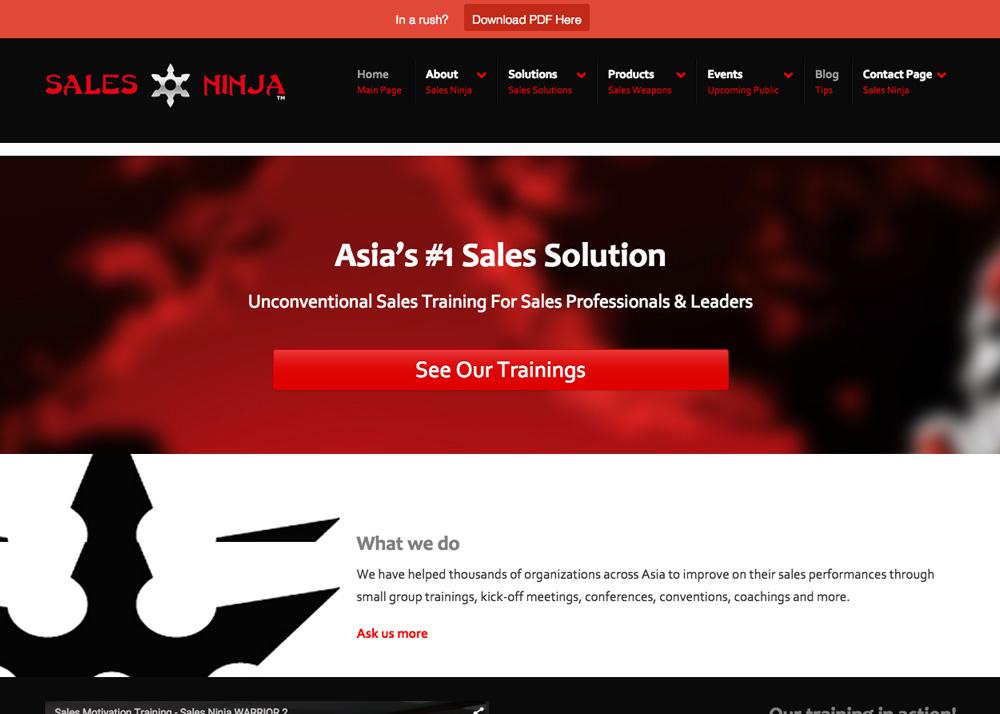 Sales Ninja   Malaysia Website Awards 2015