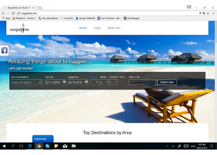 Wegodive:1 Stop Diving Resort Platform