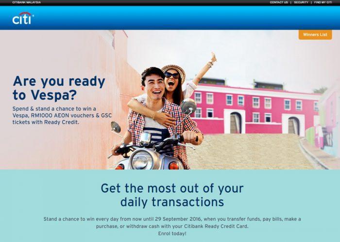 CITIBANK MALAYSIA CITI READY CREDIT VESPA