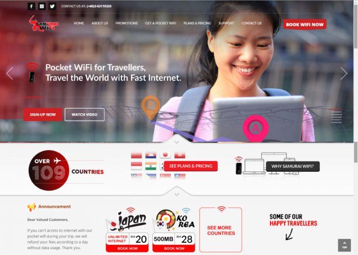 Samurai WiFi | Pocket WiFi Over 109 Countries