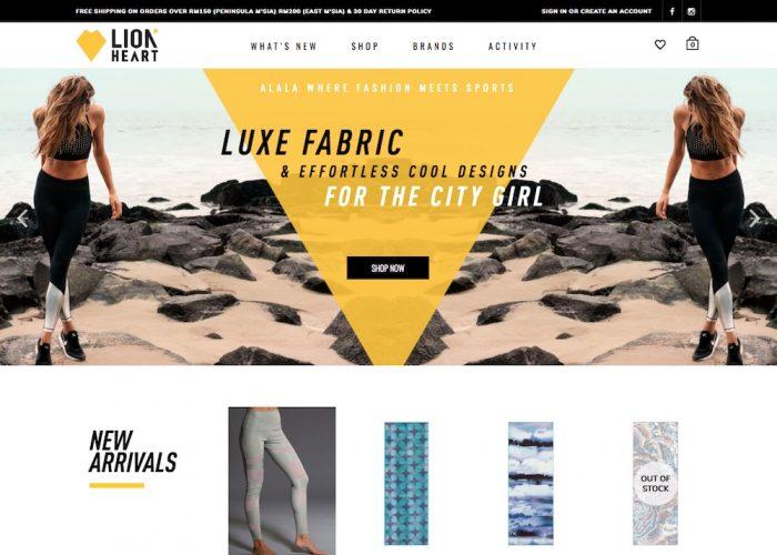LionHeart Active E-Commerce Site