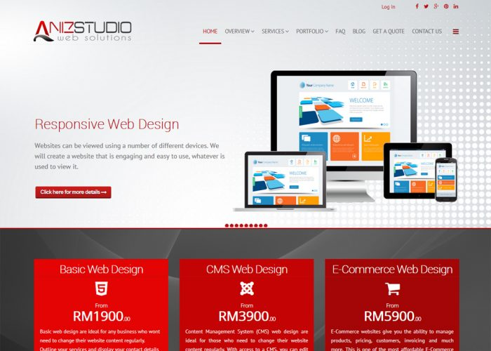 Aniz Studio Web Design