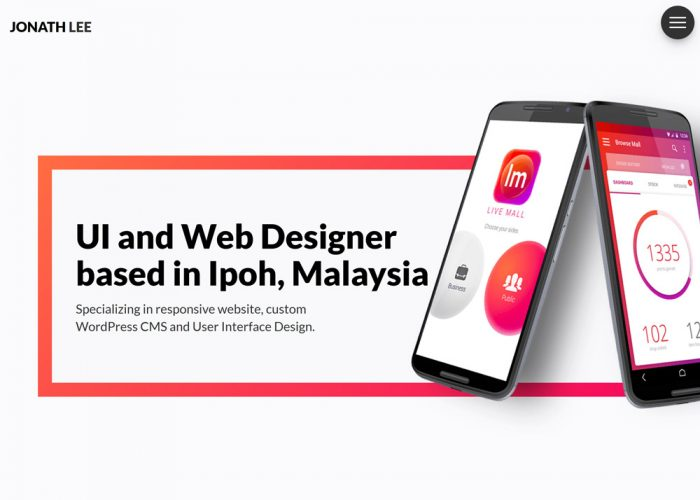 Jonath Lee – User Interface and Web Designer based in Ipoh, Malaysia