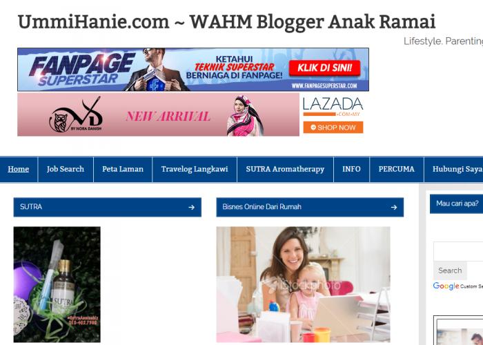 UmmiHanie.com ~ WAHM Blogger Anak Ramai