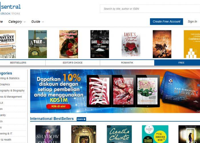 E-Sentral.com, Malaysia's eBook Portal
