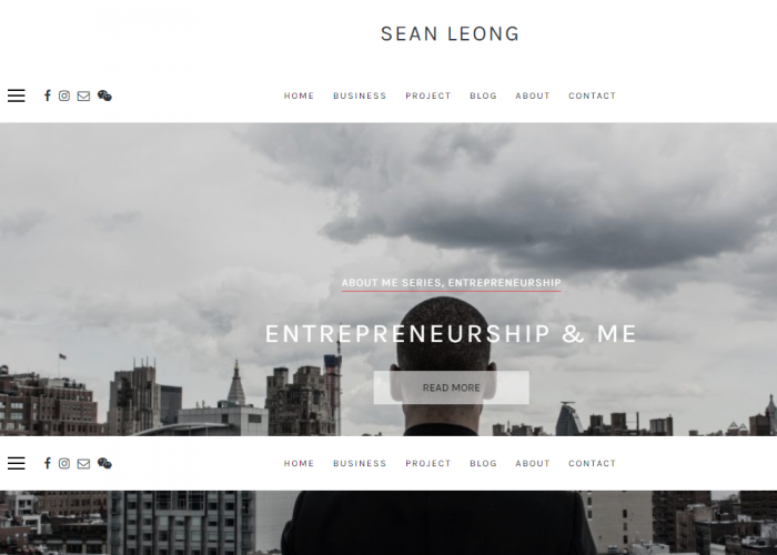 Sean Leong's Personal Website