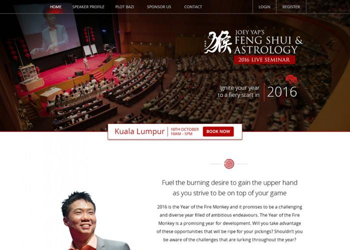 Joey Yap's Feng Shui & Astrology Seminar 2016