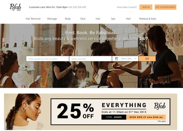 Bfab – Your one-stop instant beauty & wellness booking platform