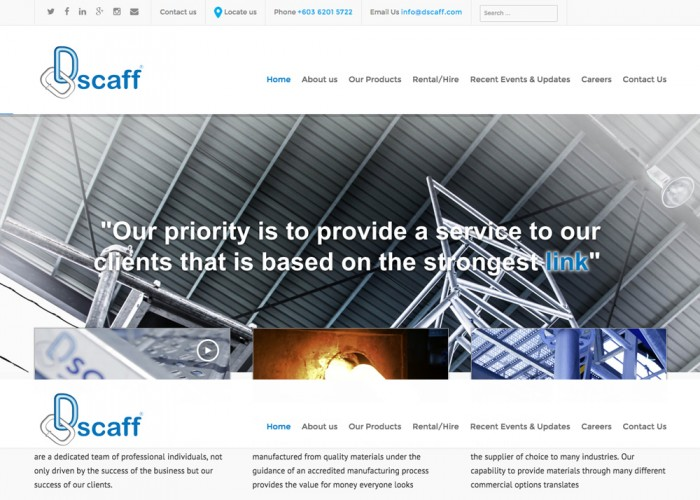 Scaffolding Sales, Rental, Manufacturing and Construction Equipment