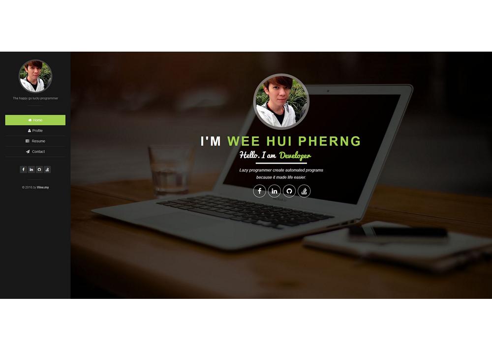 Wee – Web Developer – Personal Website