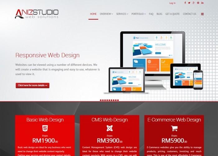 Aniz Studio – Malaysia Web Design