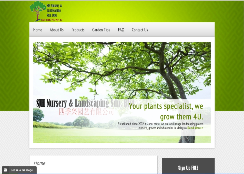Malaysia Whole Plant Nursery Supplies Website