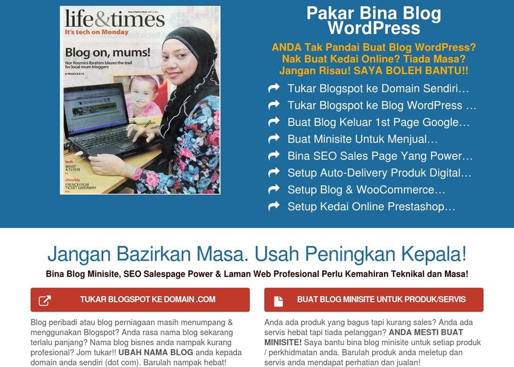 Pakar Bina Blog WordPress & Teknik SEO