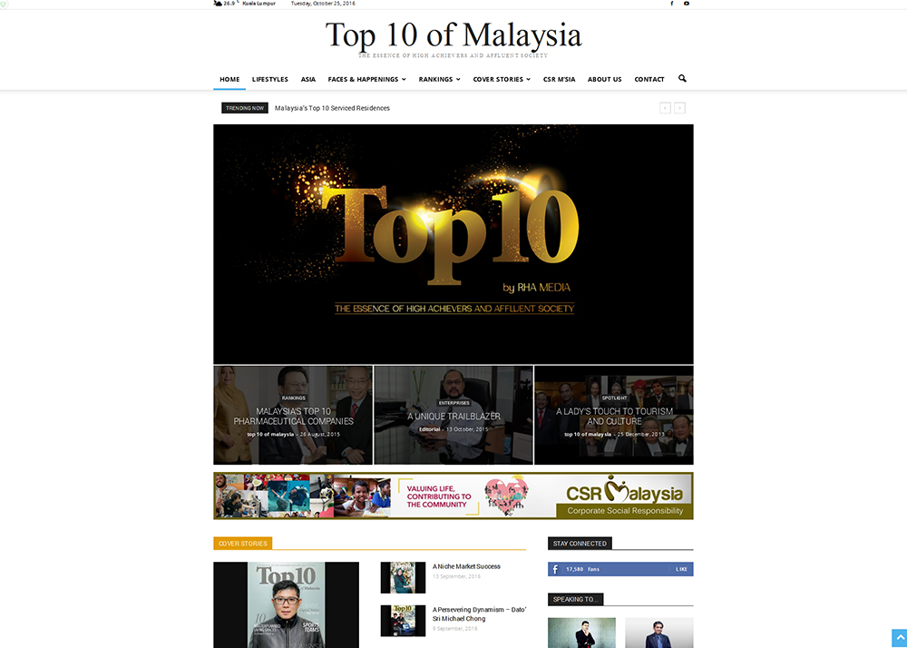 Top 10 of Malaysia