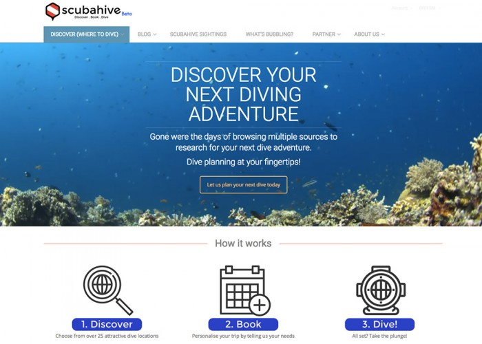 ScubaHive – Discover/Book/Dive