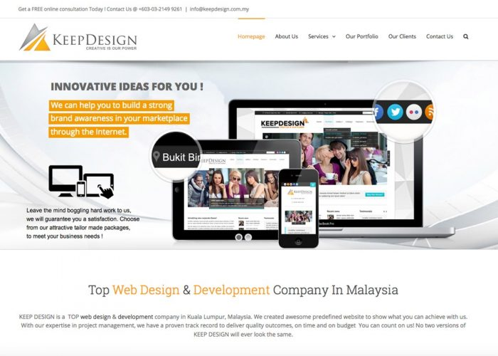 Web Design Malaysia | E-Commerce Solutions | KEEP DESIGN