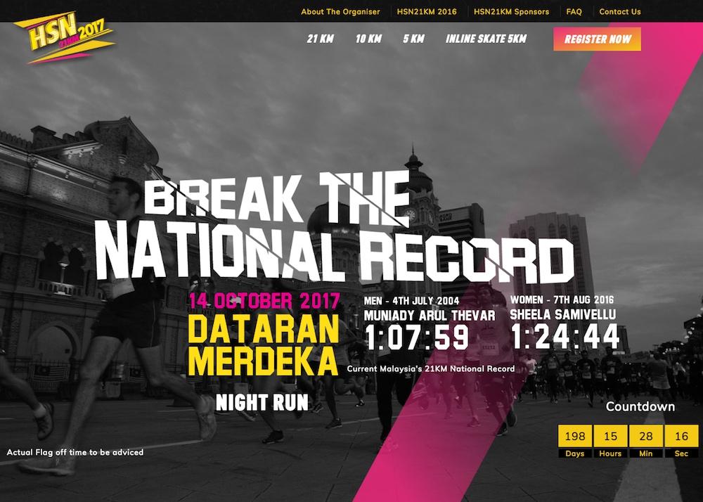 HSN 21KM 2017 Race Website