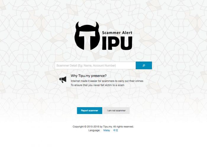 TIPU Scammer Alert