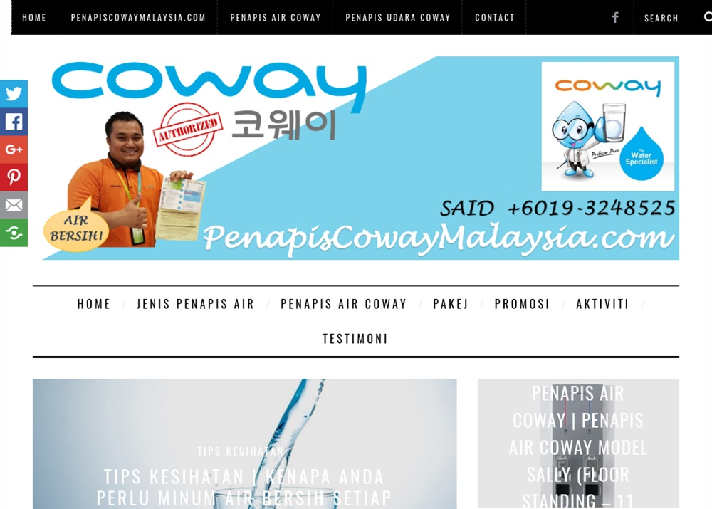 Blog Agen Penapis Air & Udara Coway Malaysia