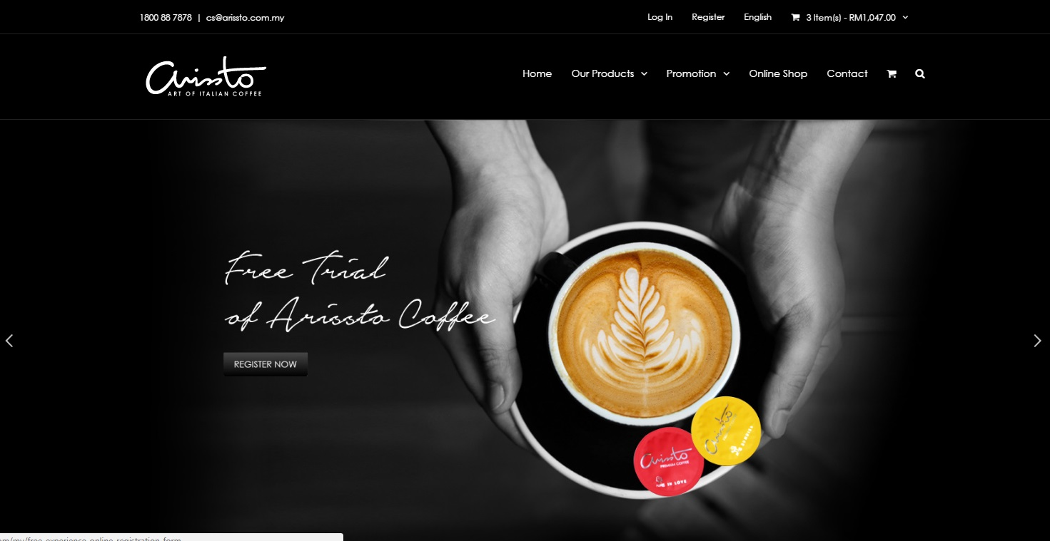 ARISSTO Coffee Official Site