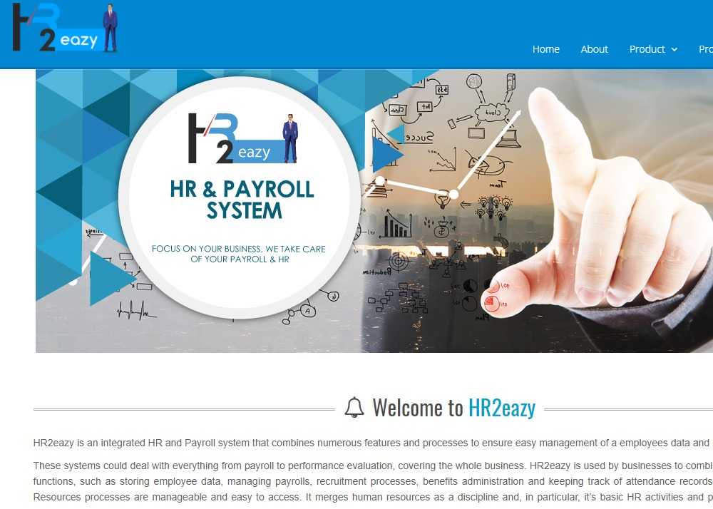 HR2eazy integrated HR and Payroll system