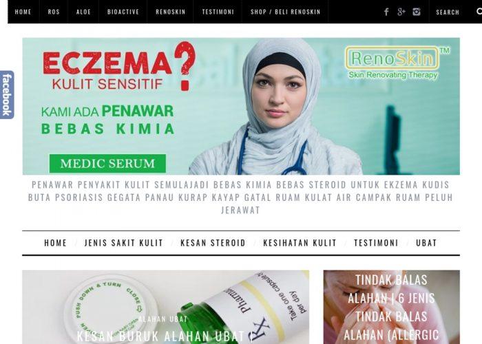 Ubat Penyakit Kulit RenoSkin Medic Serum Ubat Bebas Steroid