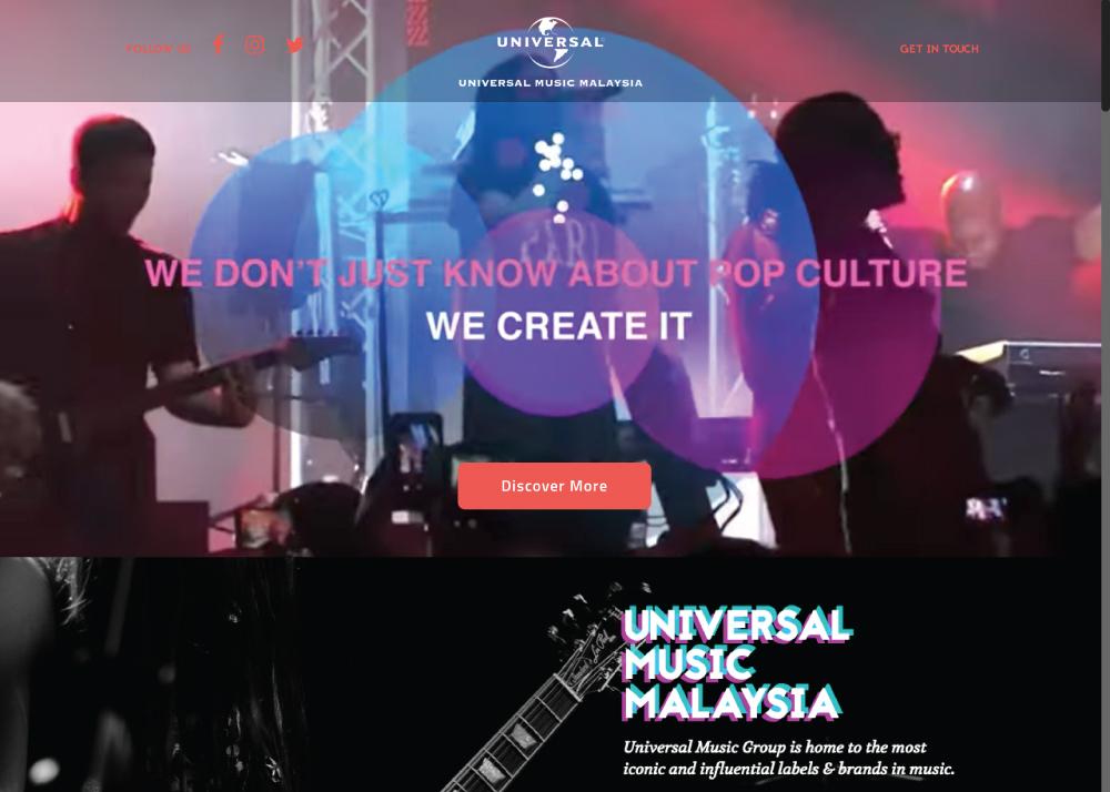 Universal Music Malaysia - Malaysia Website Awards