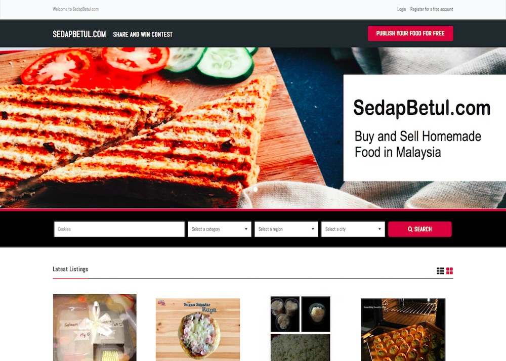 SedapBetul.com – Buy & Sell Homemade Food in Malaysia