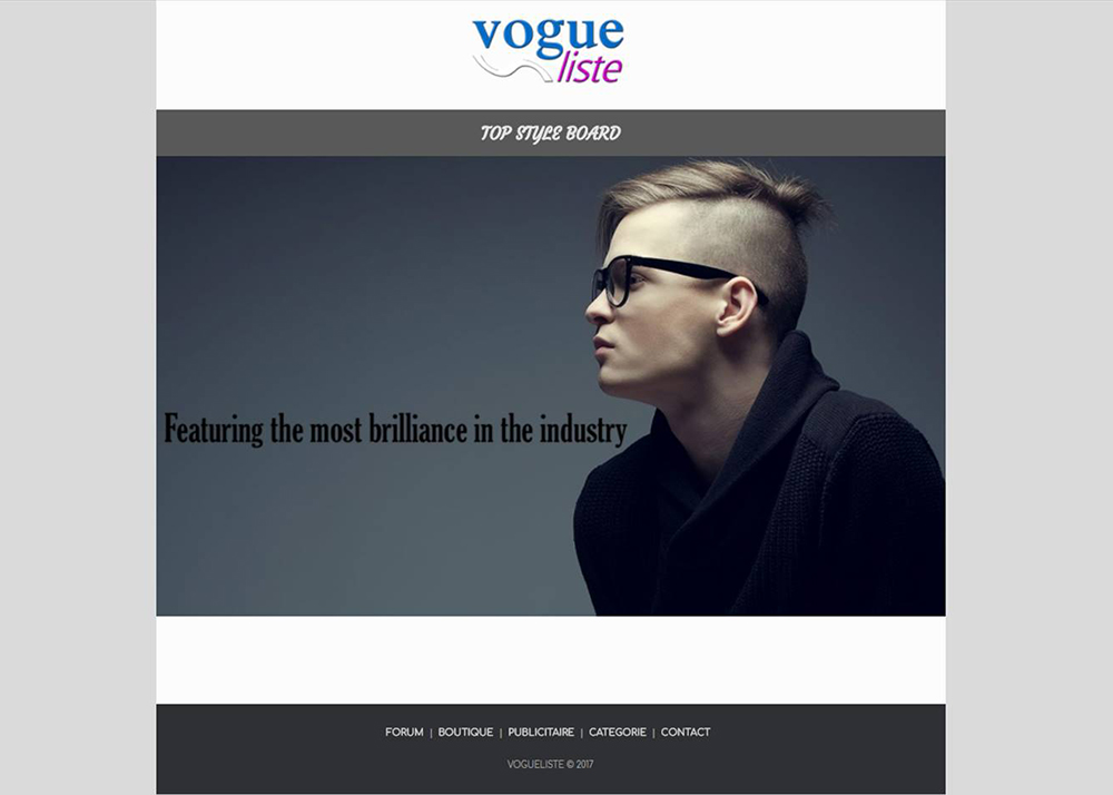 VogueListe Top Style Board, Fashion Forums, Boutique, Ads & Blog/Media