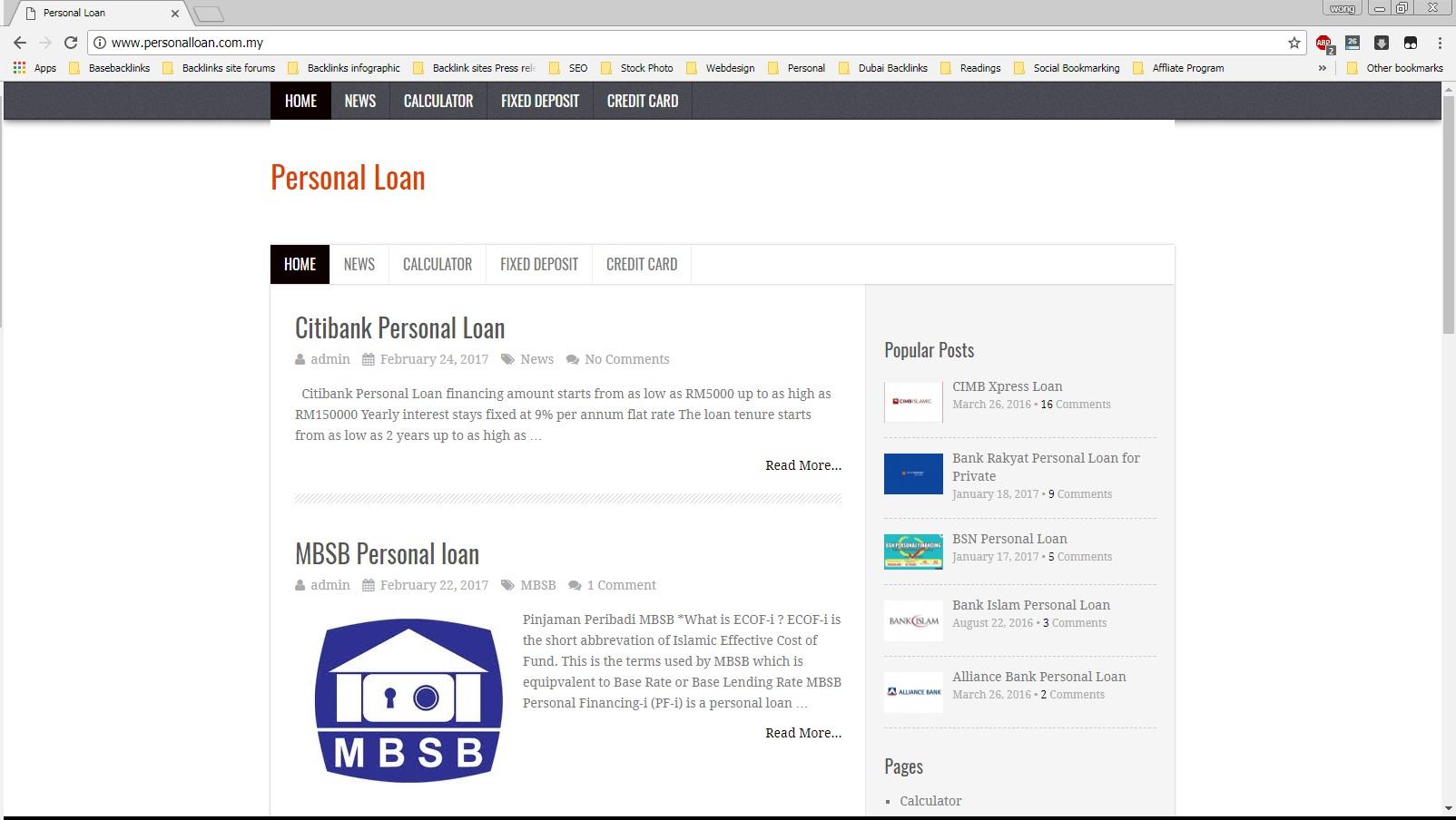 Finance comparison portal