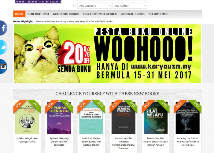 Karya USM ~ One stop site for scholarly books