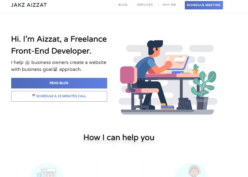 Jakz Aizzat – Freelance Front-End & WordPress Developer