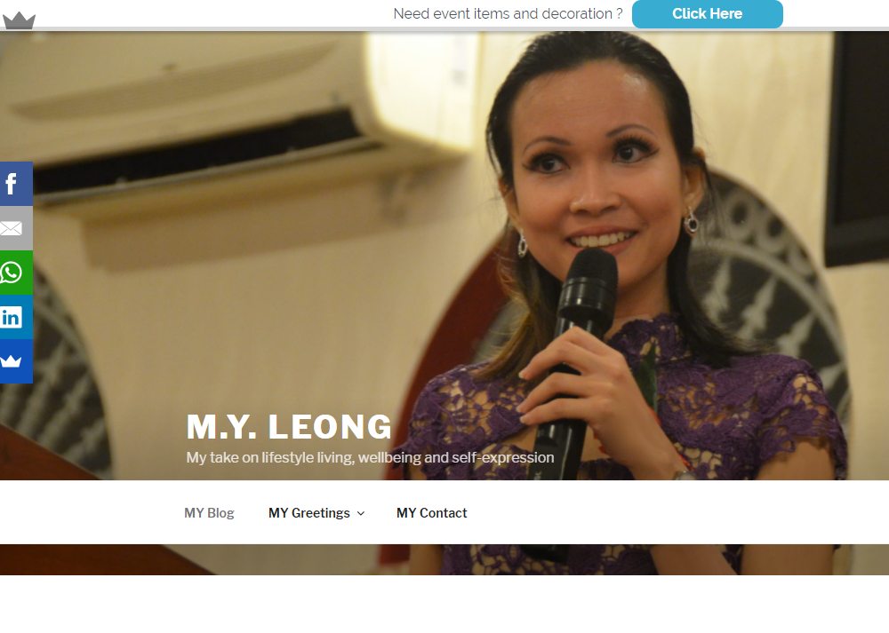 M.Y. LEONG-My take on lifestyle living, wellbeing and self-expression