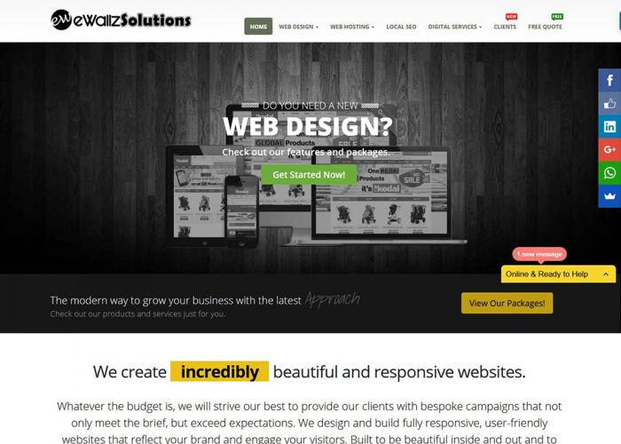 eWallz Solutions Web Design