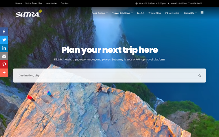 Sutra.my – Malaysia's One-Stop Travel Booking Portal