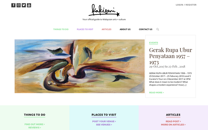 Kakiseni – Your official guide to Malaysian arts + culture