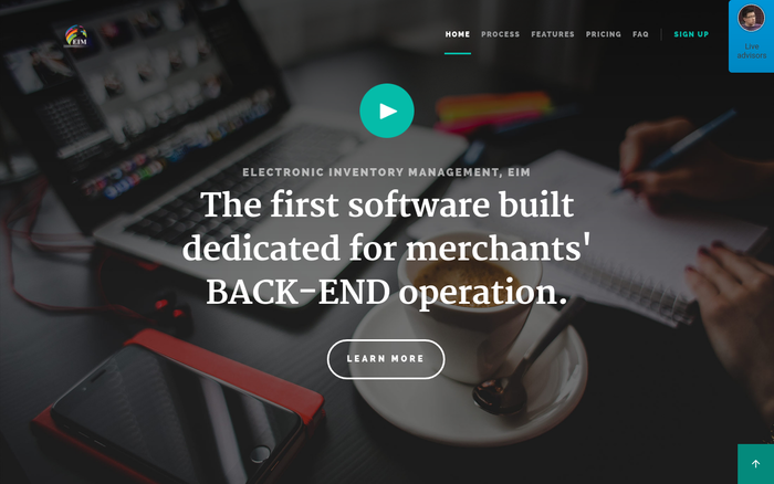 EIM, the first software built for merchants' BACK-END operation.