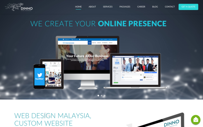DINNO Website Design
