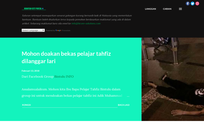 Kuantan City Portal (KCP) – Peer to Peer Donation Website