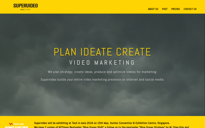 Supervideo. Plan, Ideate, Create, Video Marketing.