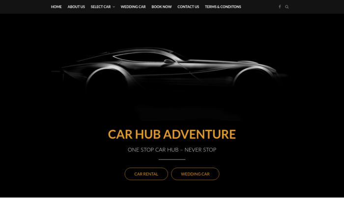Car Hub Adventure – Car Rental Website