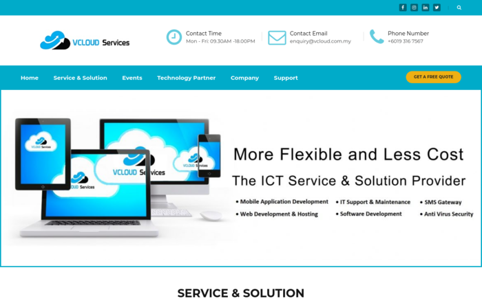 VCLOUD Services: ICT Service and Solution Provider