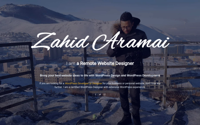 Web Design Malaysian Freelancer – Zahid Aramai