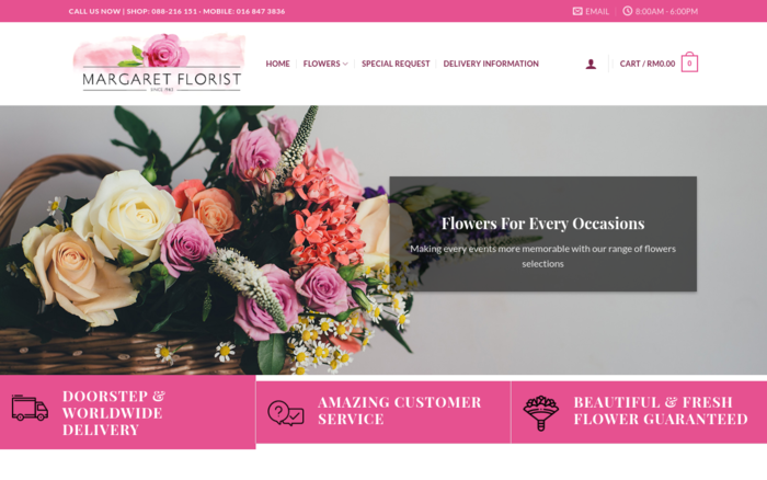 Margaret Florist – Flower Delivery in Kota Kinabalu