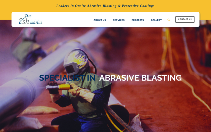 Ashmarine – Leaders in Onsite Abrasive Blasting & Protective Coatings