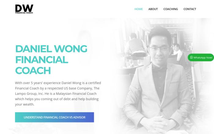 Daniel Wong Financial Coach - Malaysia Website Awards